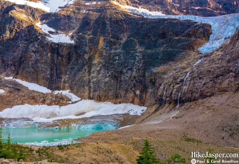 Hike Jasper - Edith Cavell Meadows Mountain, Cavell Glacier, Angel Glacier, Kettle Lake