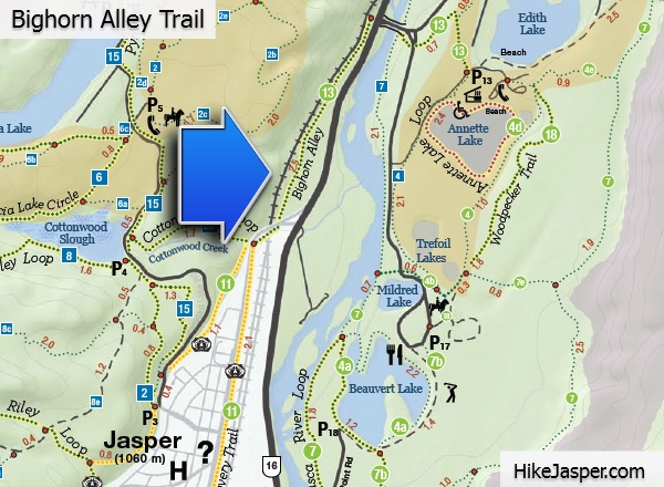 Bighorn Alley Map