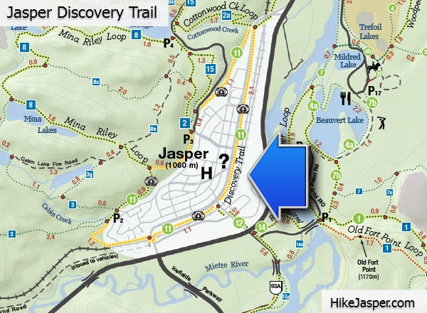 Jasper Discovery Trail Map