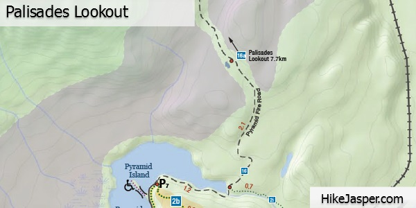 Palisades Lookout Map