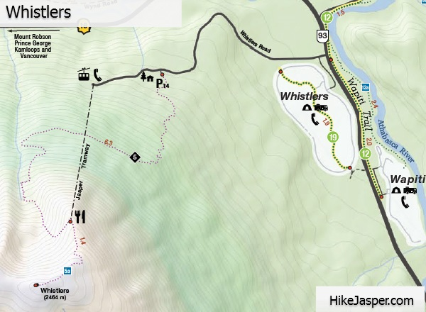 Whistlers Trail Map