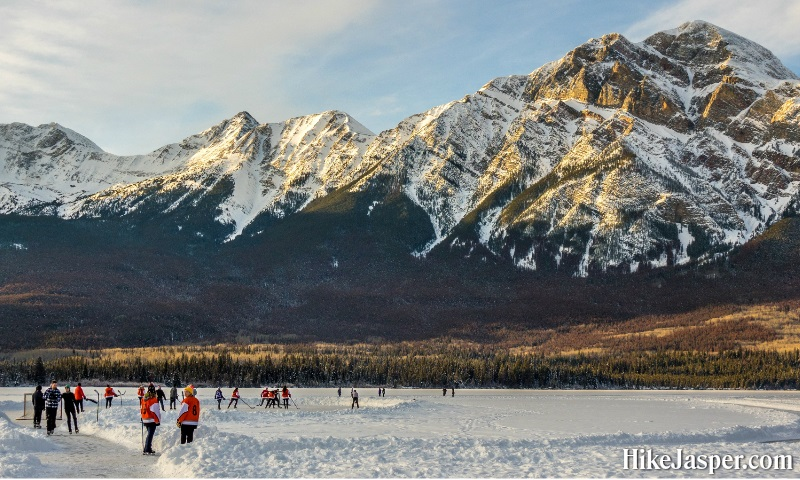 Winter in Jasper National Park - Ice Skating on Mountain Ponds and Lakes