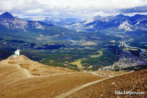 Whistlers Mountain from Top Hiking View of Jasper